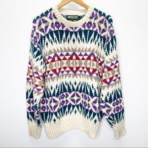 VTG American Eagle Grandpa Sweater Sz L